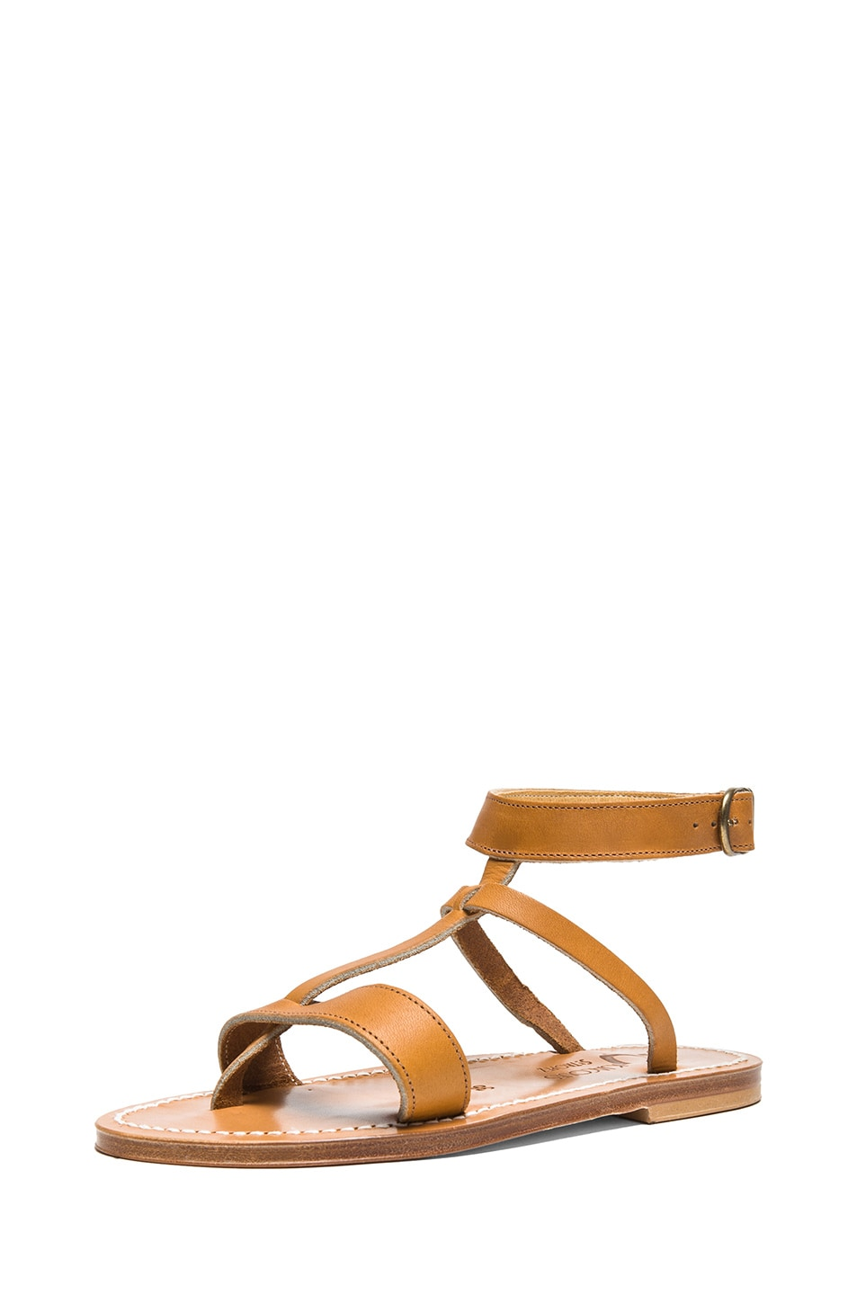 Image 2 of K Jacques Corvette Leather Sandals in Natural