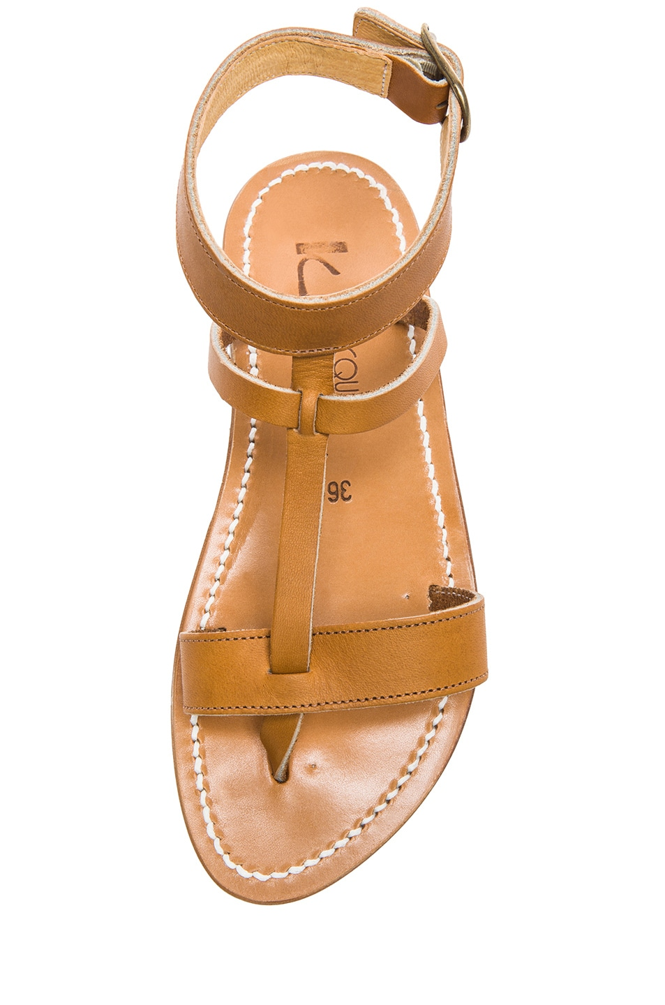 Image 4 of K Jacques Corvette Leather Sandals in Natural