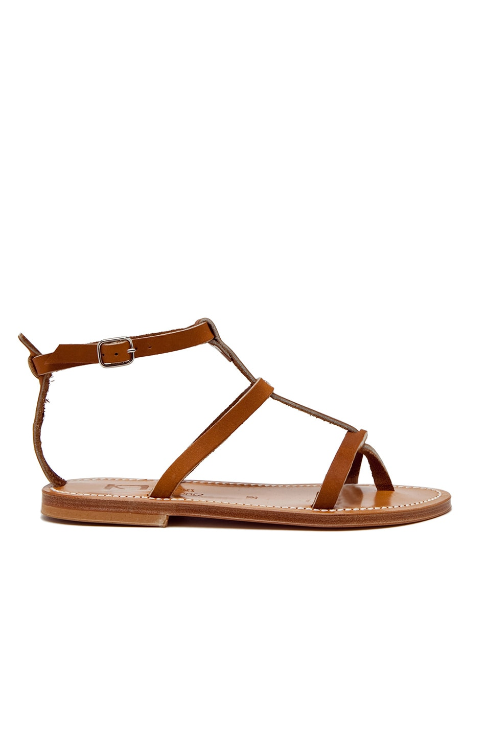 Image 1 of K. Jacques Gina Leather Sandals in Natural