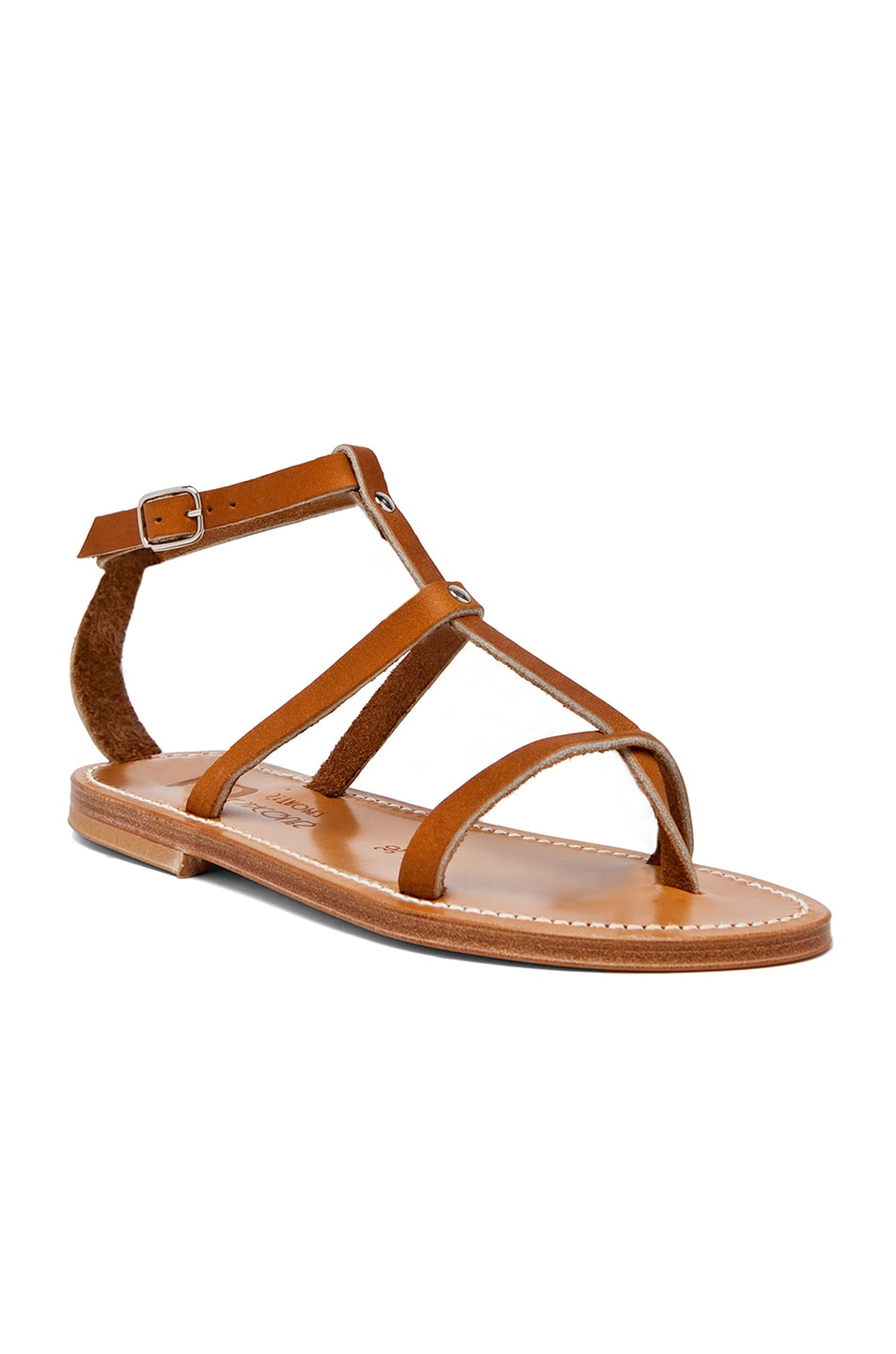 Image 2 of K. Jacques Gina Leather Sandals in Natural