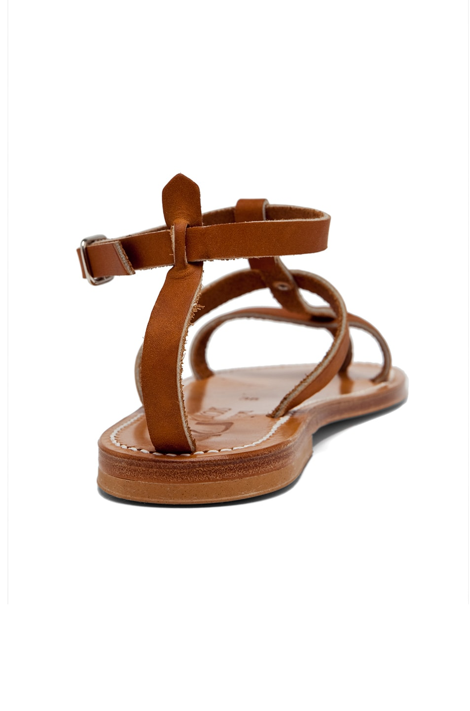 Image 3 of K. Jacques Gina Leather Sandals in Natural