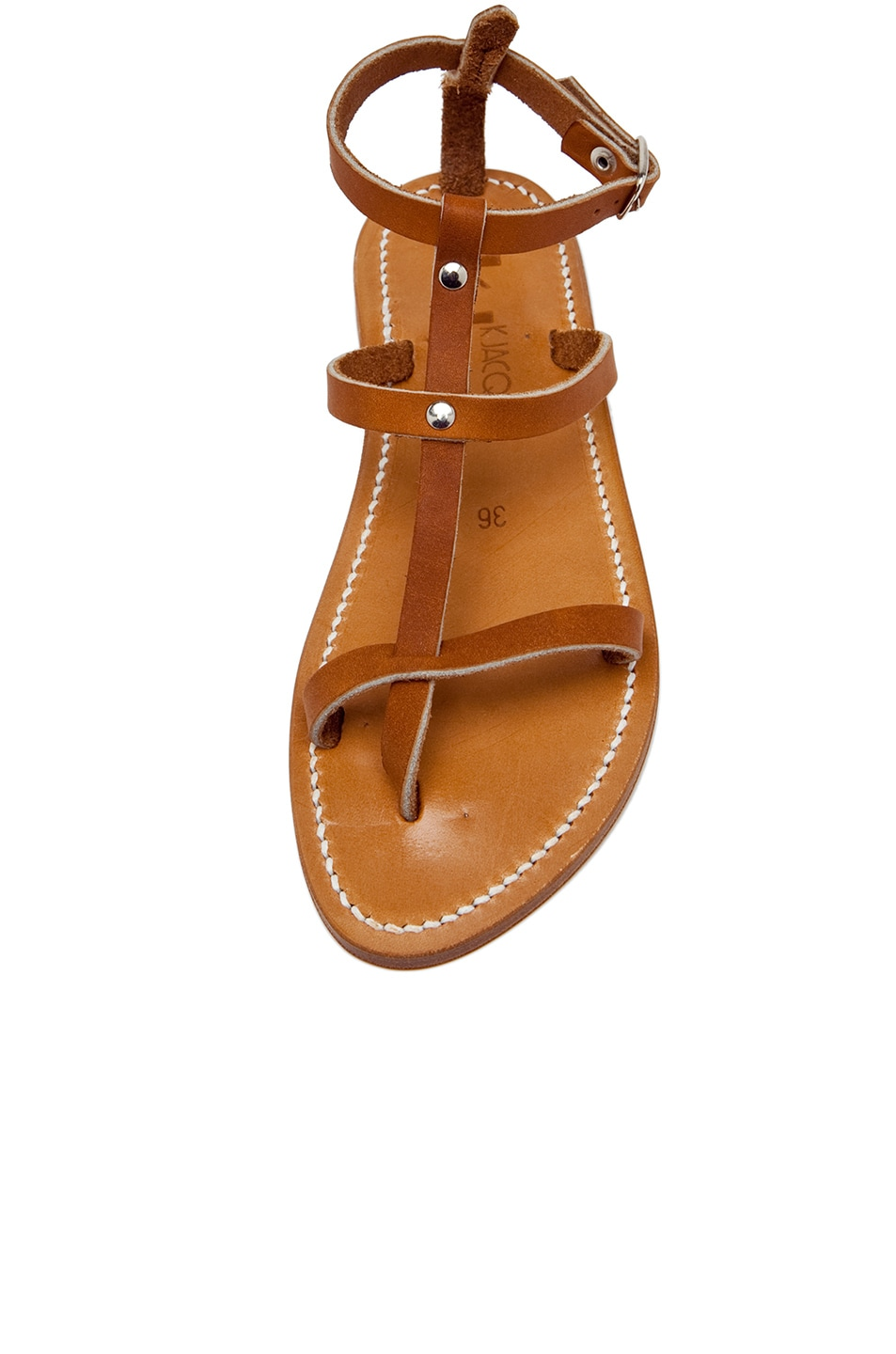 Image 4 of K. Jacques Gina Leather Sandals in Natural
