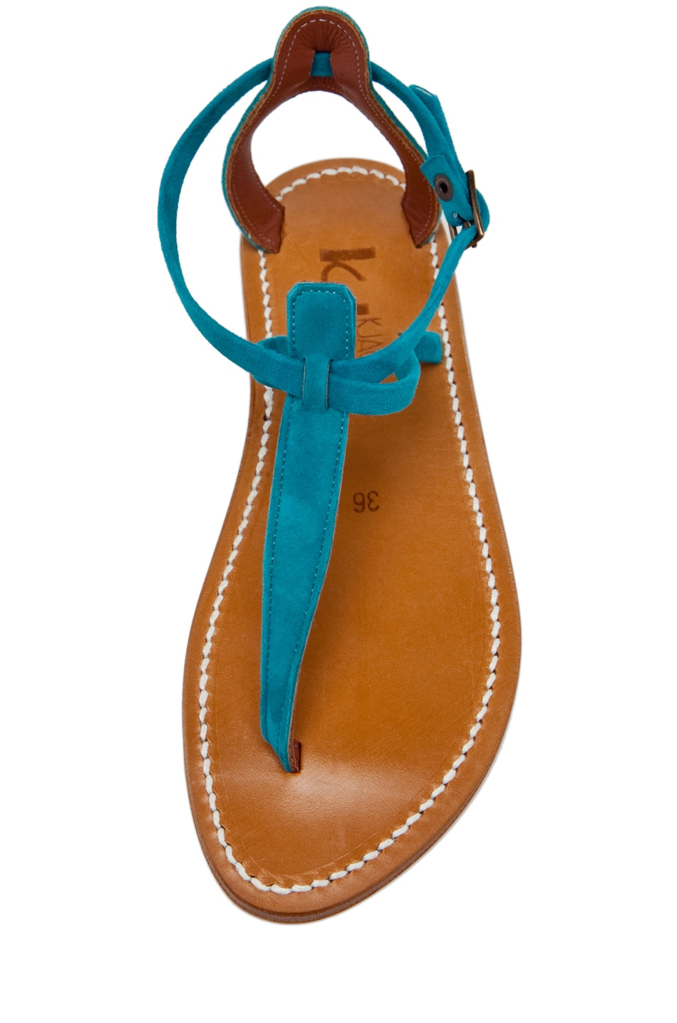 Image 4 of K. Jacques Buffon Suede Sandal in Turquoise