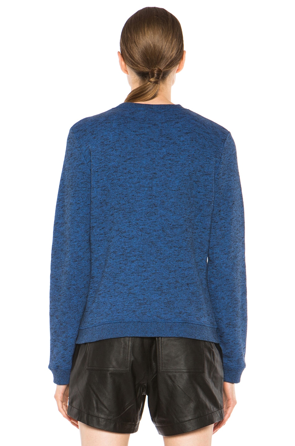 Image 4 of KENZO Embroidered Tiger Marl Sweatshirt in Bleu Roi