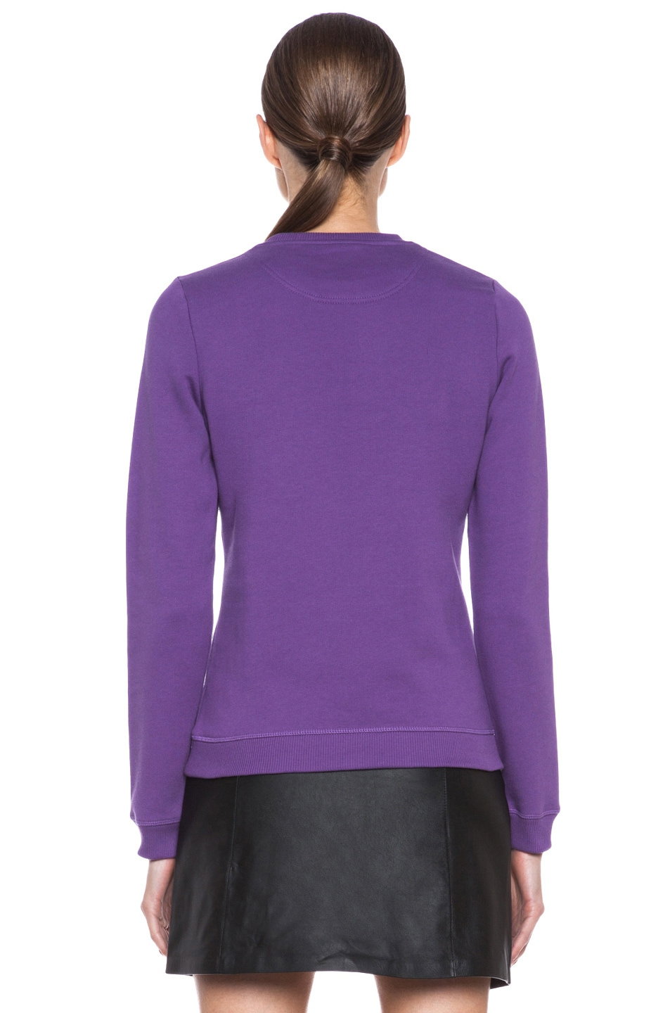 Image 4 of KENZO Embroidered Tiger Sweatshirt in Violet
