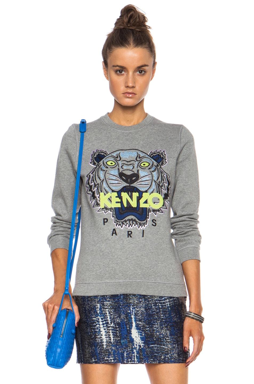Image 1 of KENZO Tiger Sweatshirt in Dark Grey