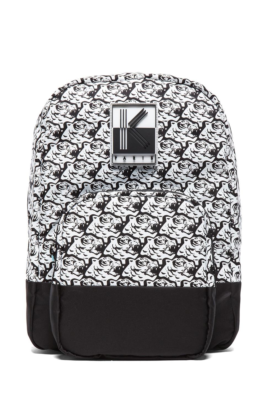 Image 1 of KENZO Herringbone Tiger Backpack in Black