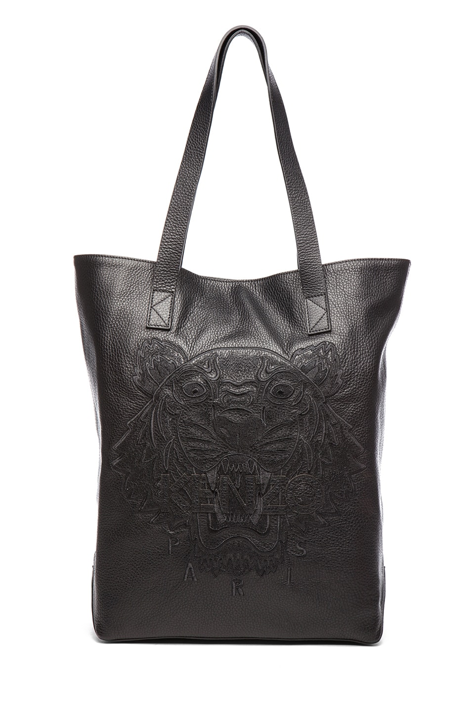 Image 1 of KENZO Leather Tiger Tote in Black