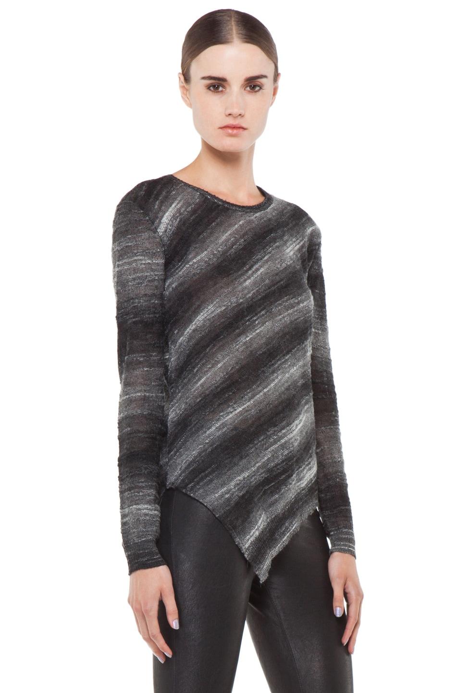 Image 3 of Kimberly Ovitz Vaso Tuck Front Sweater in Onyx