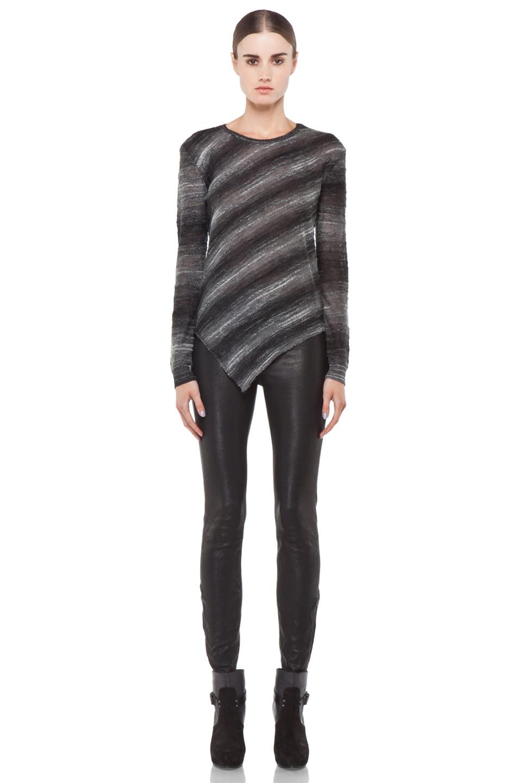 Image 5 of Kimberly Ovitz Vaso Tuck Front Sweater in Onyx