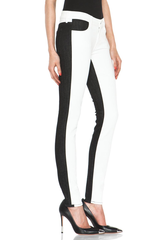 Image 3 of Koral Color Block Skinny in White & Black