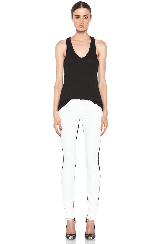 Image 5 of Koral Color Block Skinny in White & Black