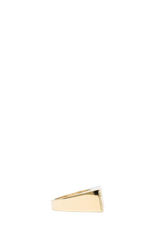 Image 2 of Kris Van Assche Rough Brass Ring in Gold
