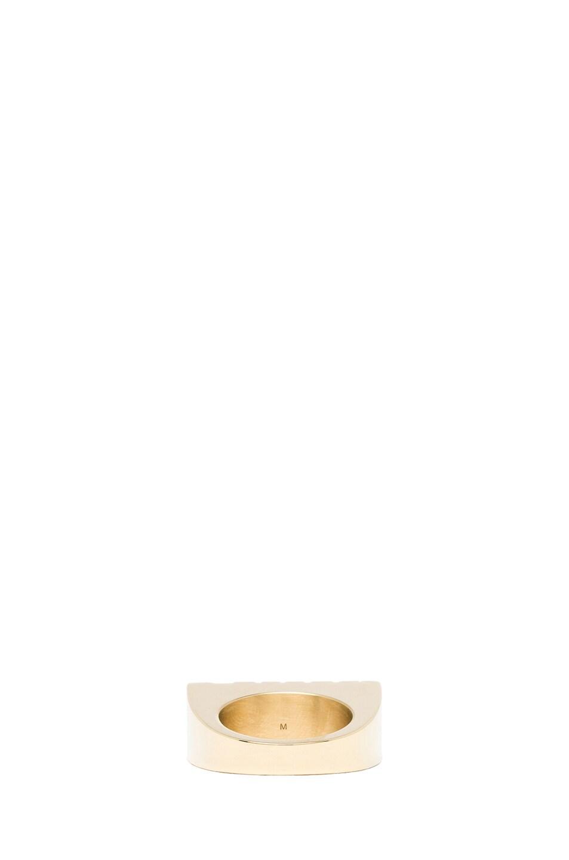 Image 3 of Kris Van Assche Rough Brass Ring in Gold