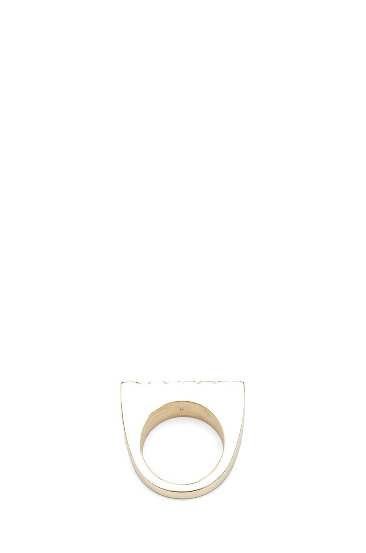 Image 4 of Kris Van Assche Rough Brass Ring in Gold