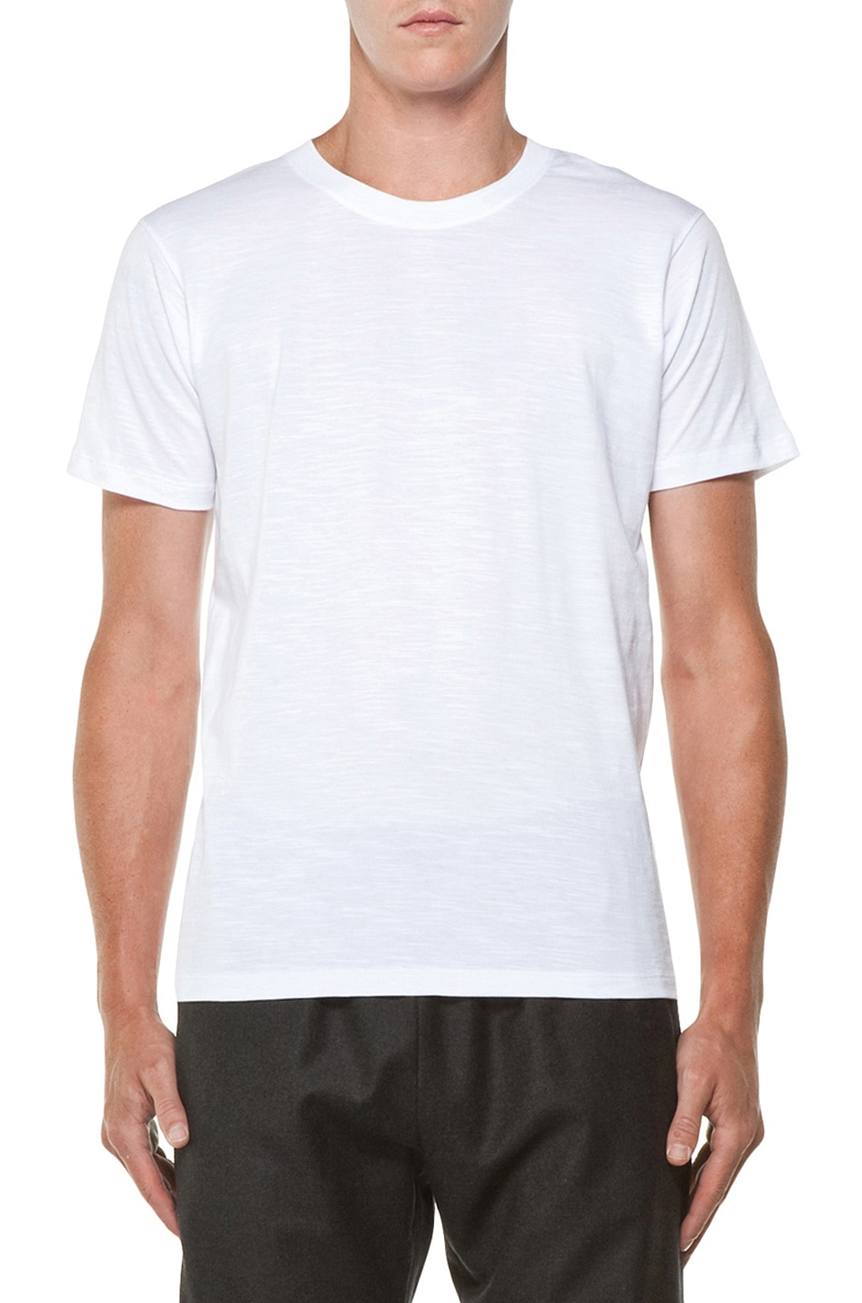 Image 1 of Kris Van Assche Crew Neck Tee in White