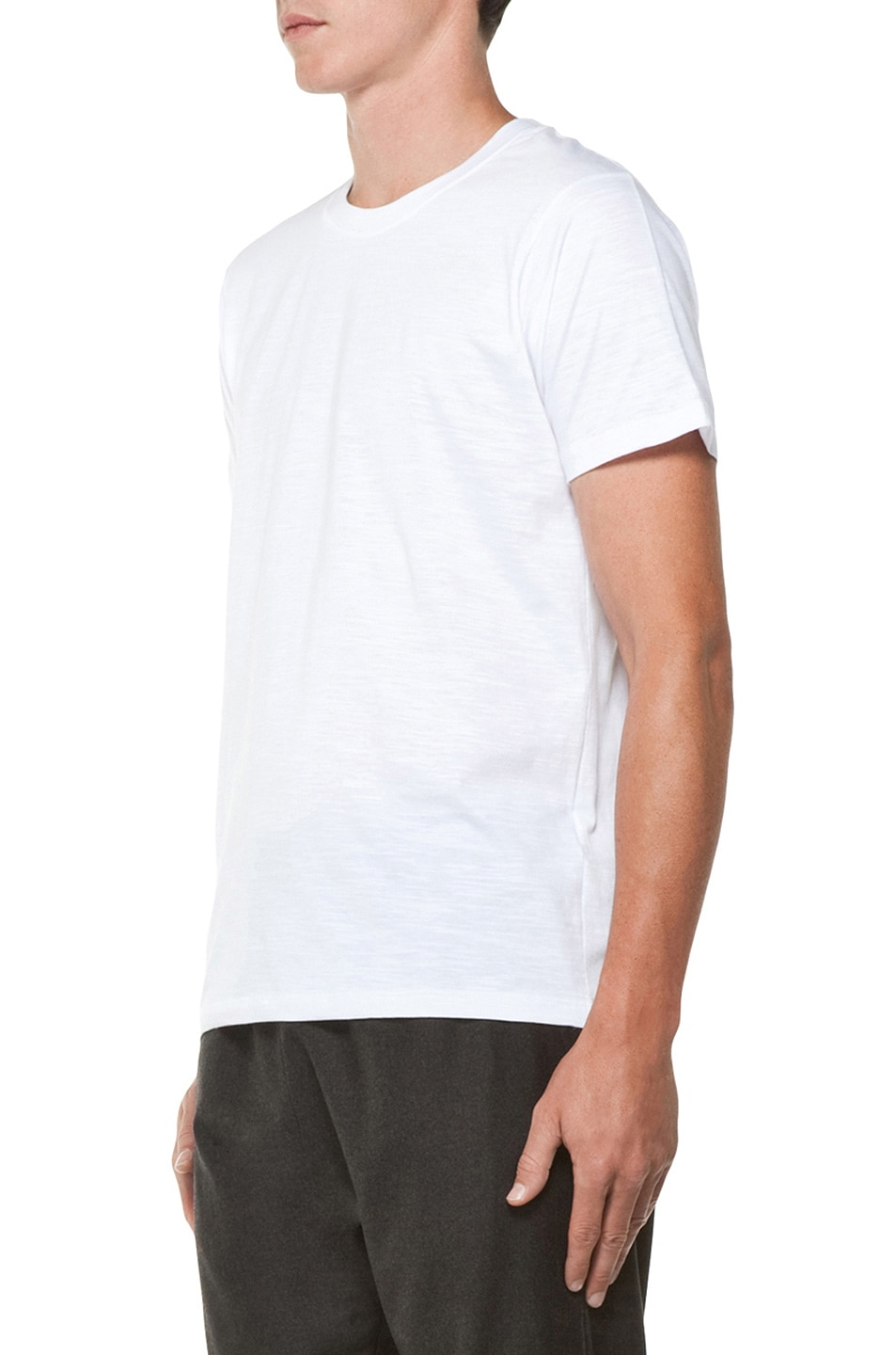 Image 2 of Kris Van Assche Crew Neck Tee in White