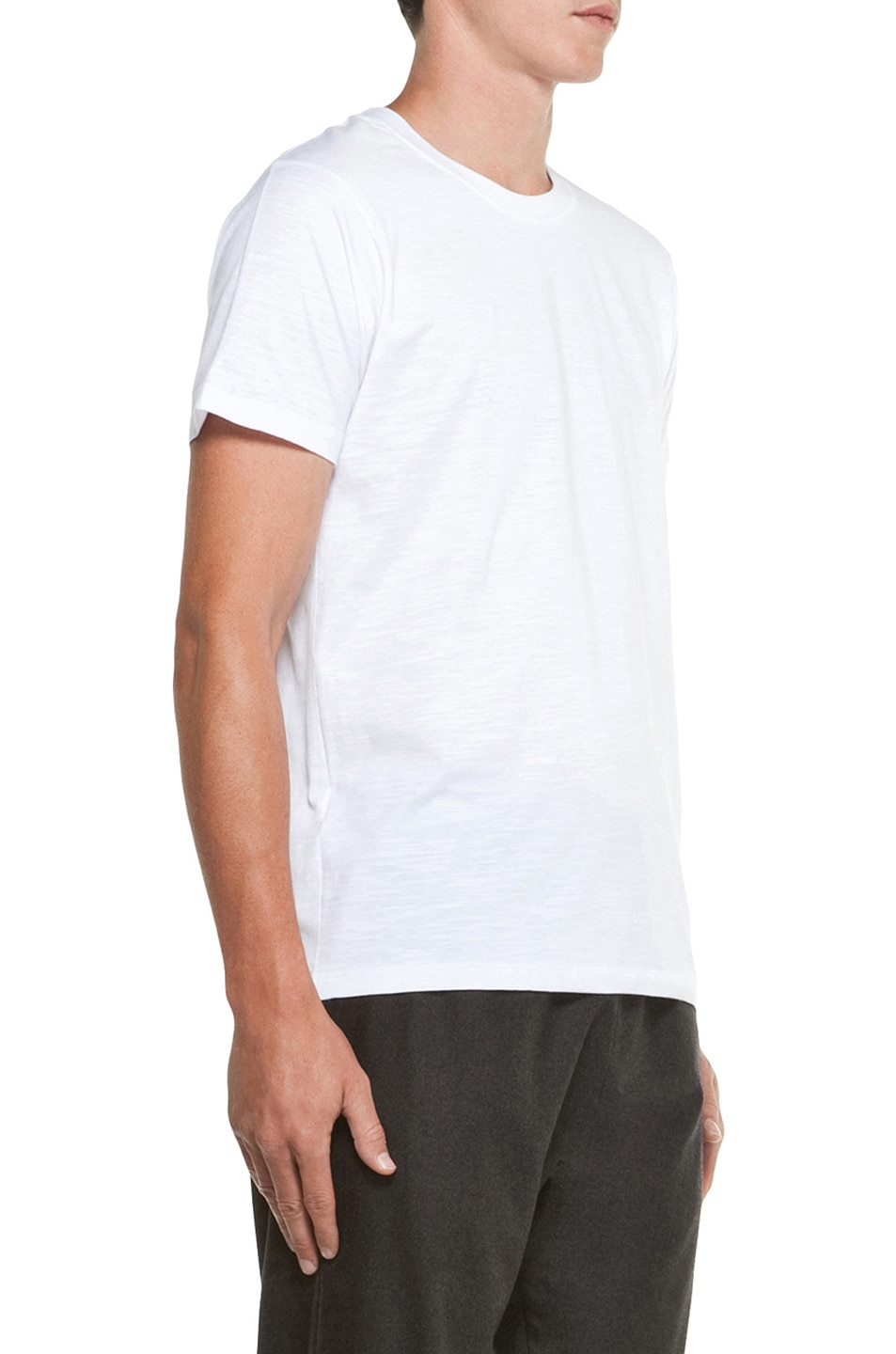 Image 3 of Kris Van Assche Crew Neck Tee in White