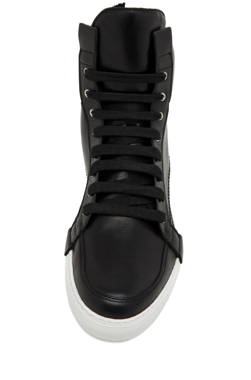 Image 4 of Kris Van Assche Lace Up Sneaker in Black