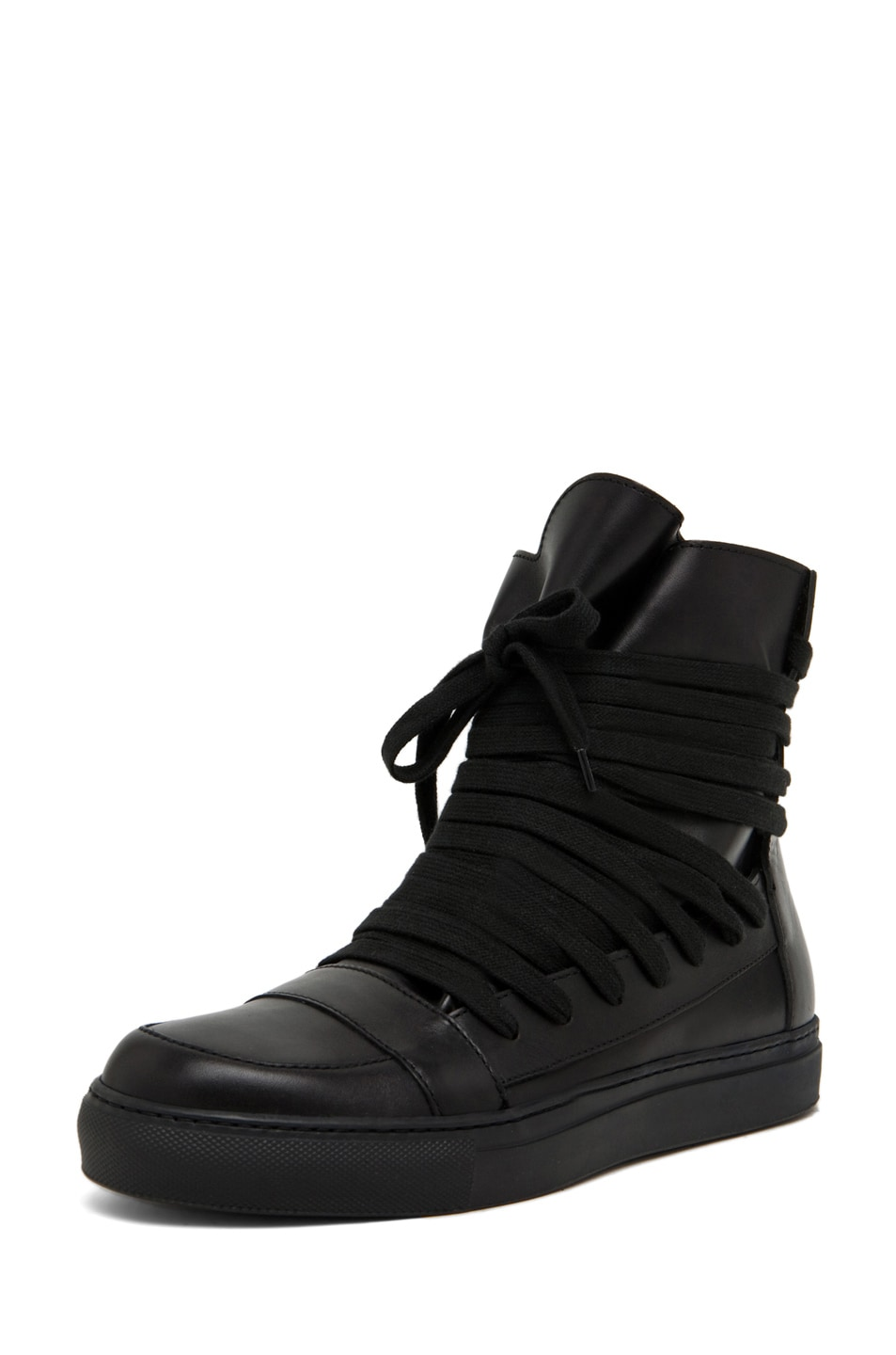 Image 2 of Kris Van Assche Laces Sneaker in Black