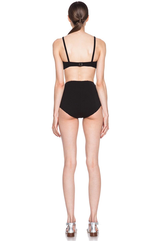 Image 4 of Lisa Marie Fernandez Genevieve Zip High Waist Nylon-Blend Bikini in Black Vintage
