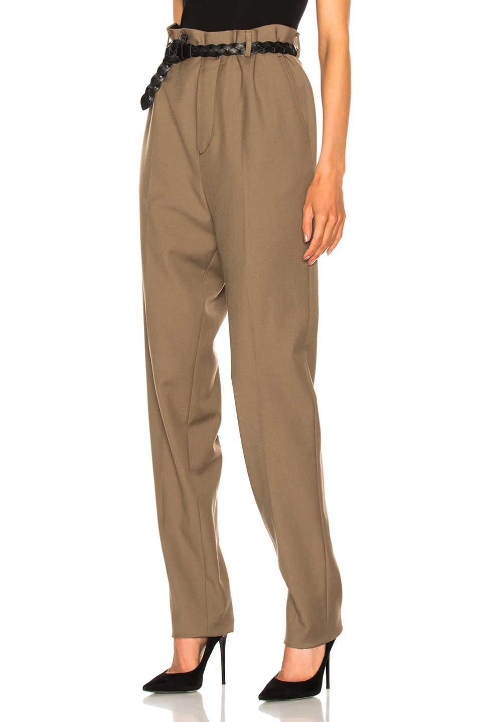 Image 2 of Lanvin Low Crotch Trousers in Sand