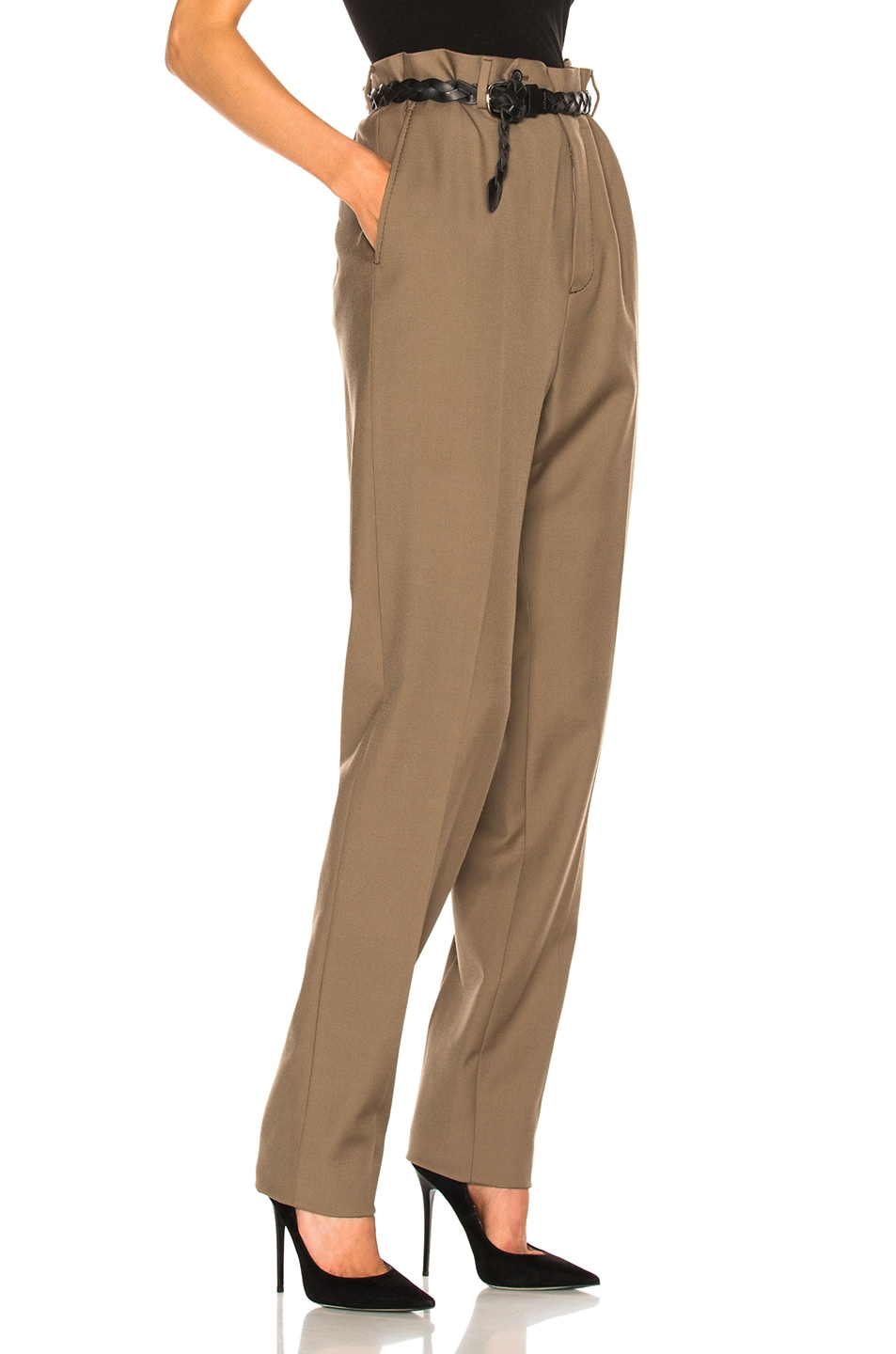 Image 3 of Lanvin Low Crotch Trousers in Sand