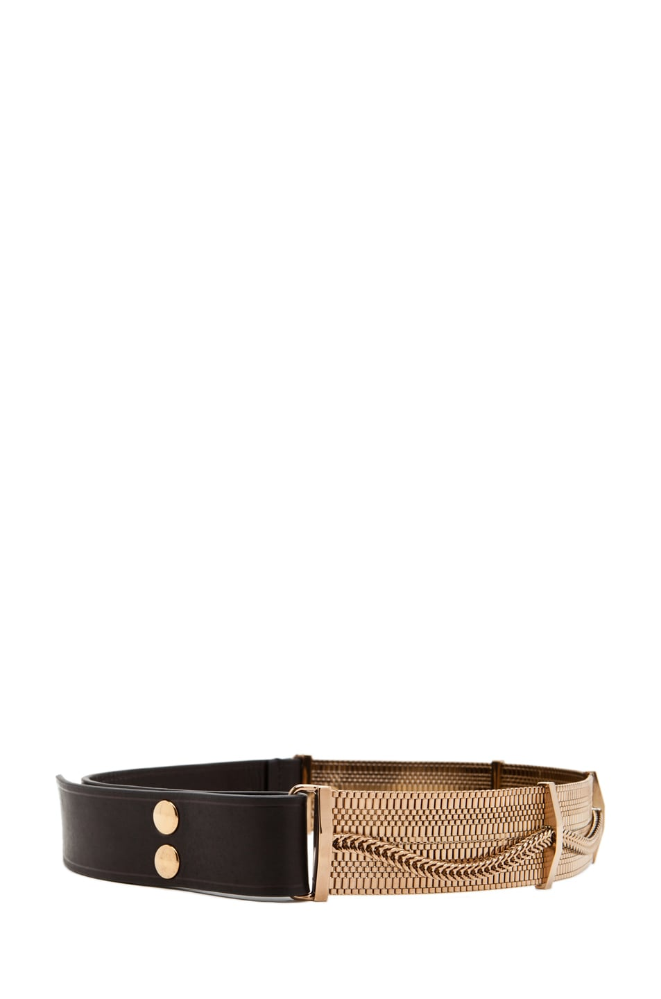 Image 2 of Lanvin Chain Plate Belt in Gold