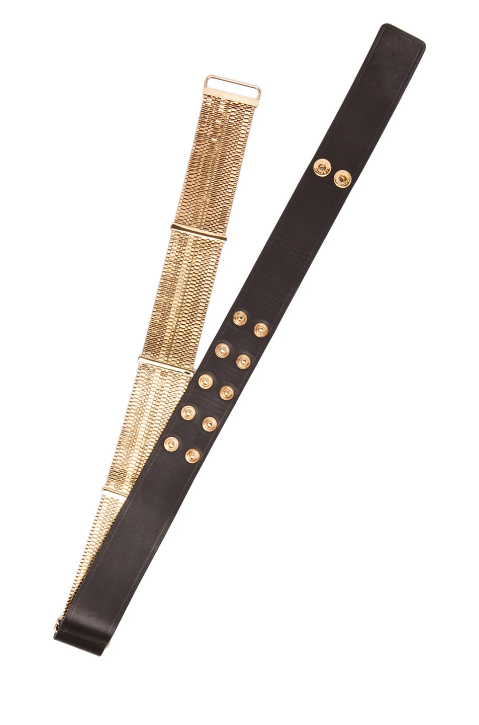 Image 4 of Lanvin Chain Plate Belt in Gold