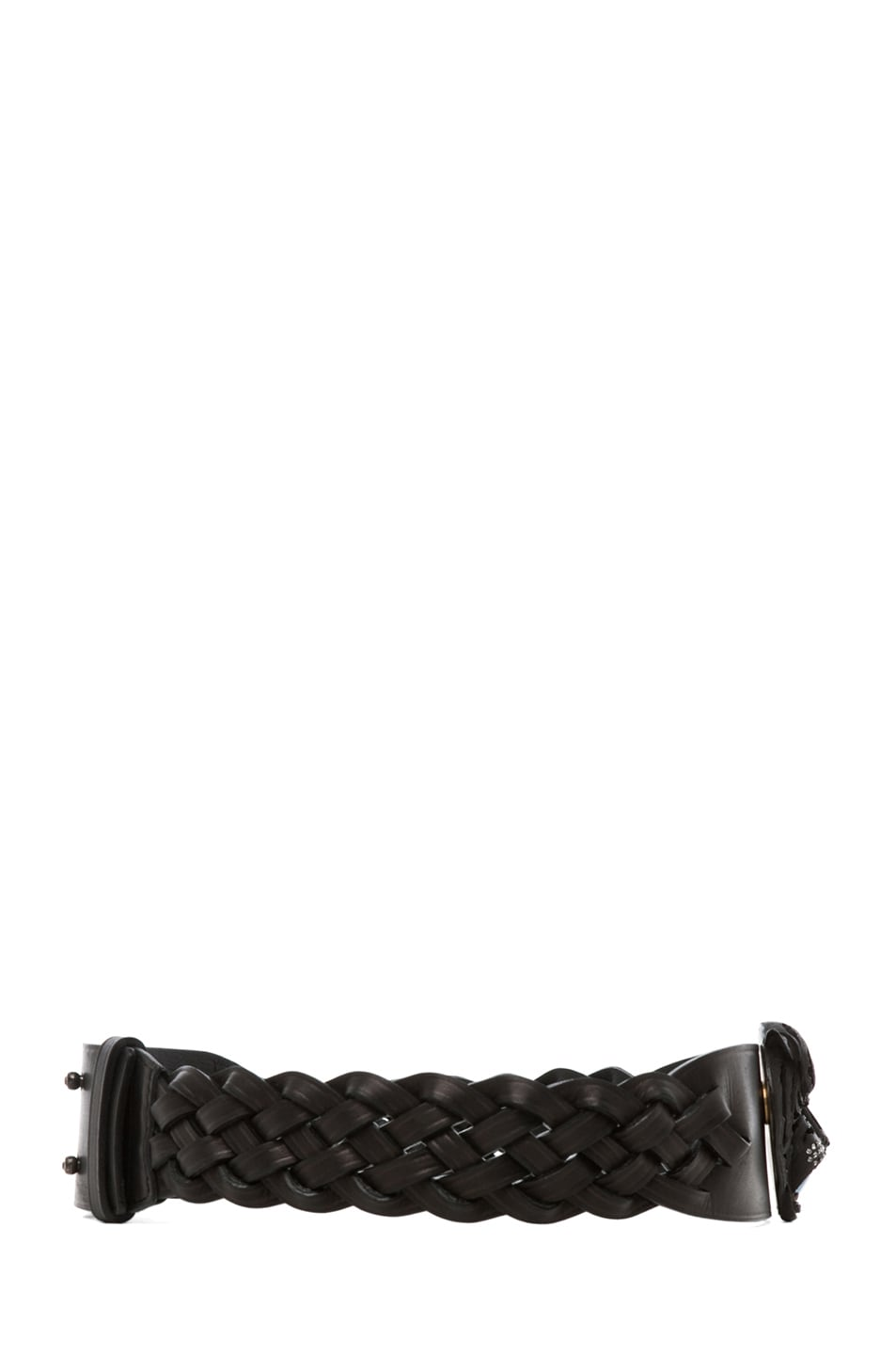 Image 2 of Lanvin Tiger Belt in Black