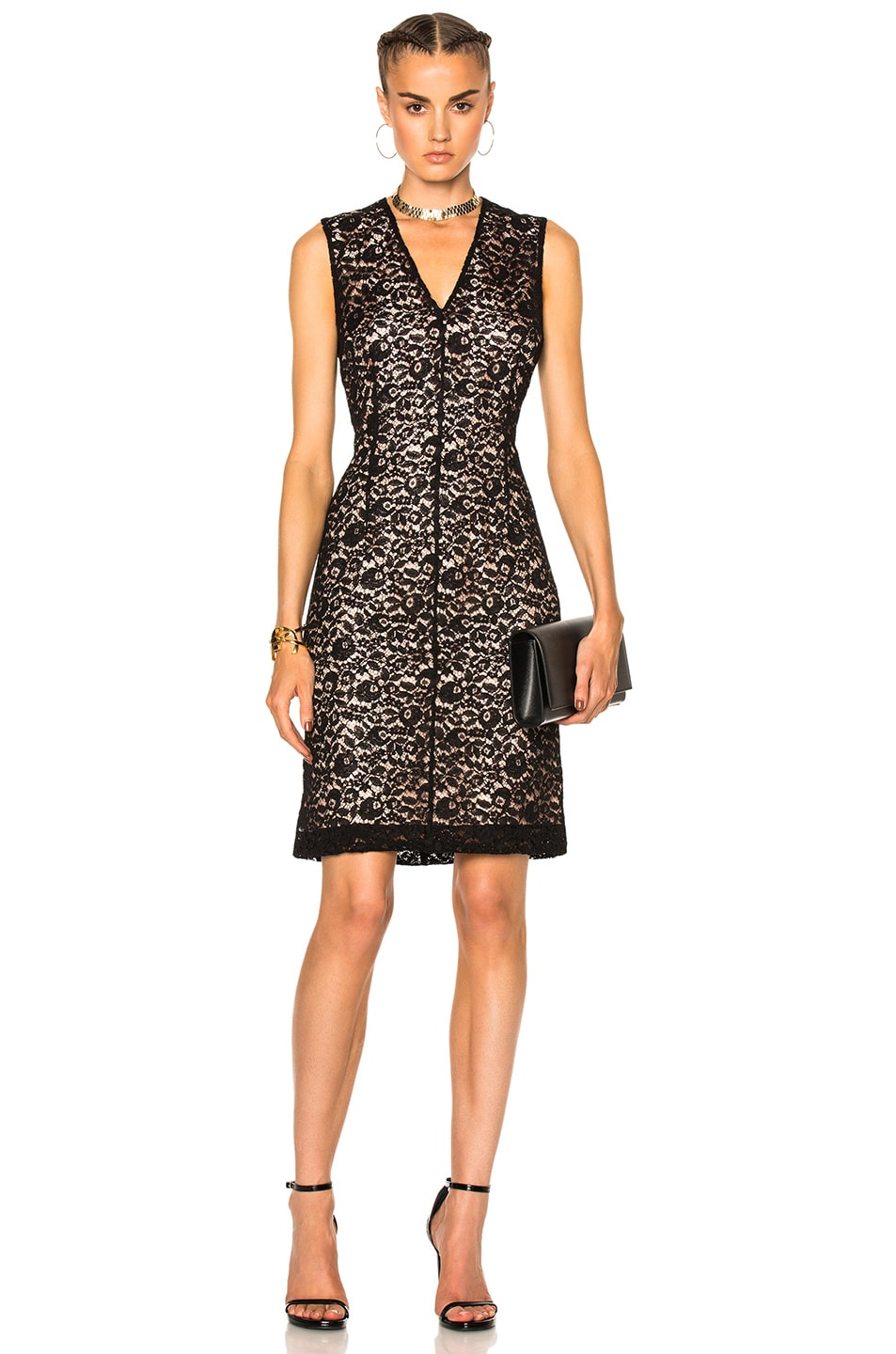 Image 1 of Lanvin Lace Dress in Black