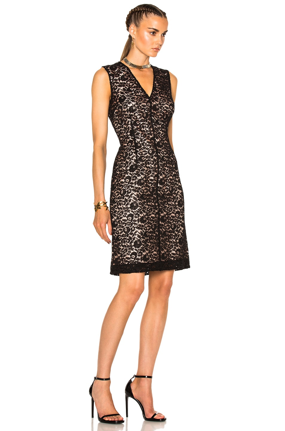 Image 3 of Lanvin Lace Dress in Black