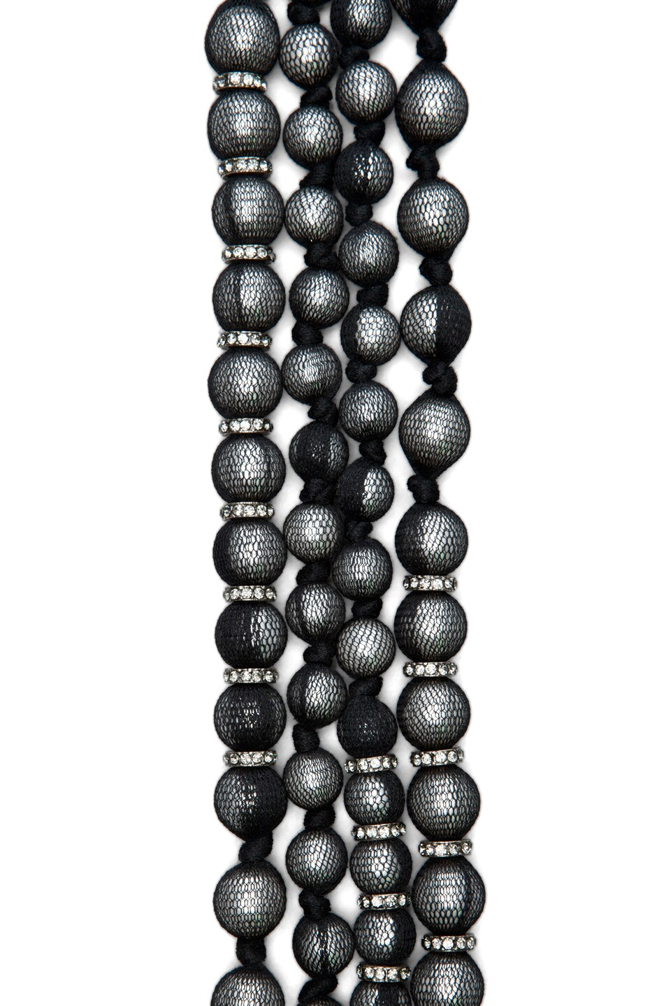 Image 3 of Lanvin 10 Year Anniversary Pearl Necklace in Black