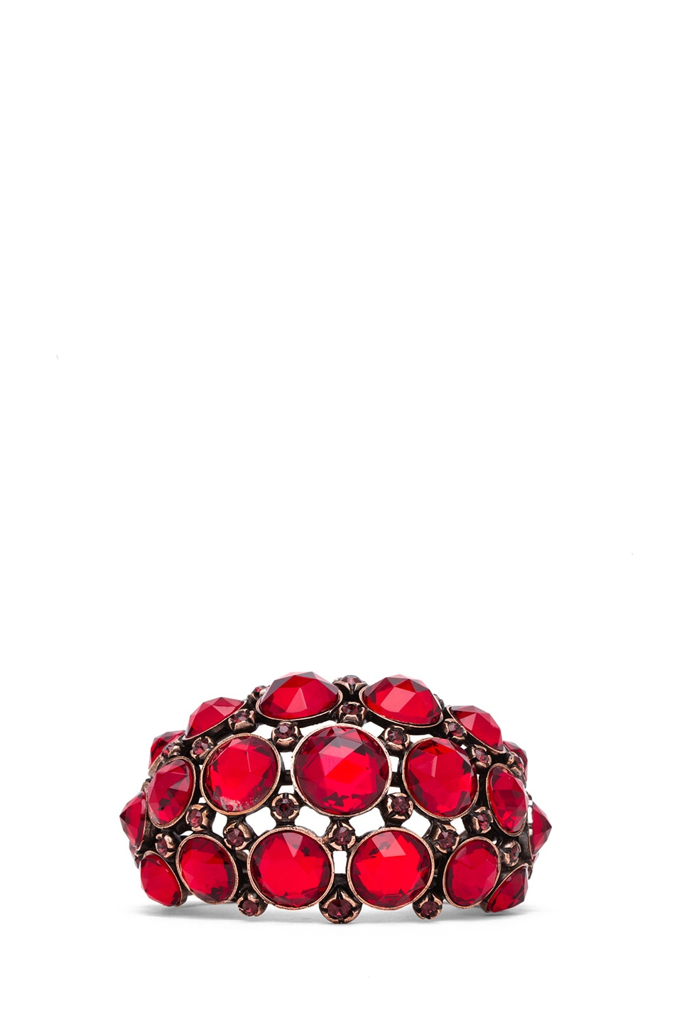 Image 1 of Lanvin Jeweled Bracelet in Rouge