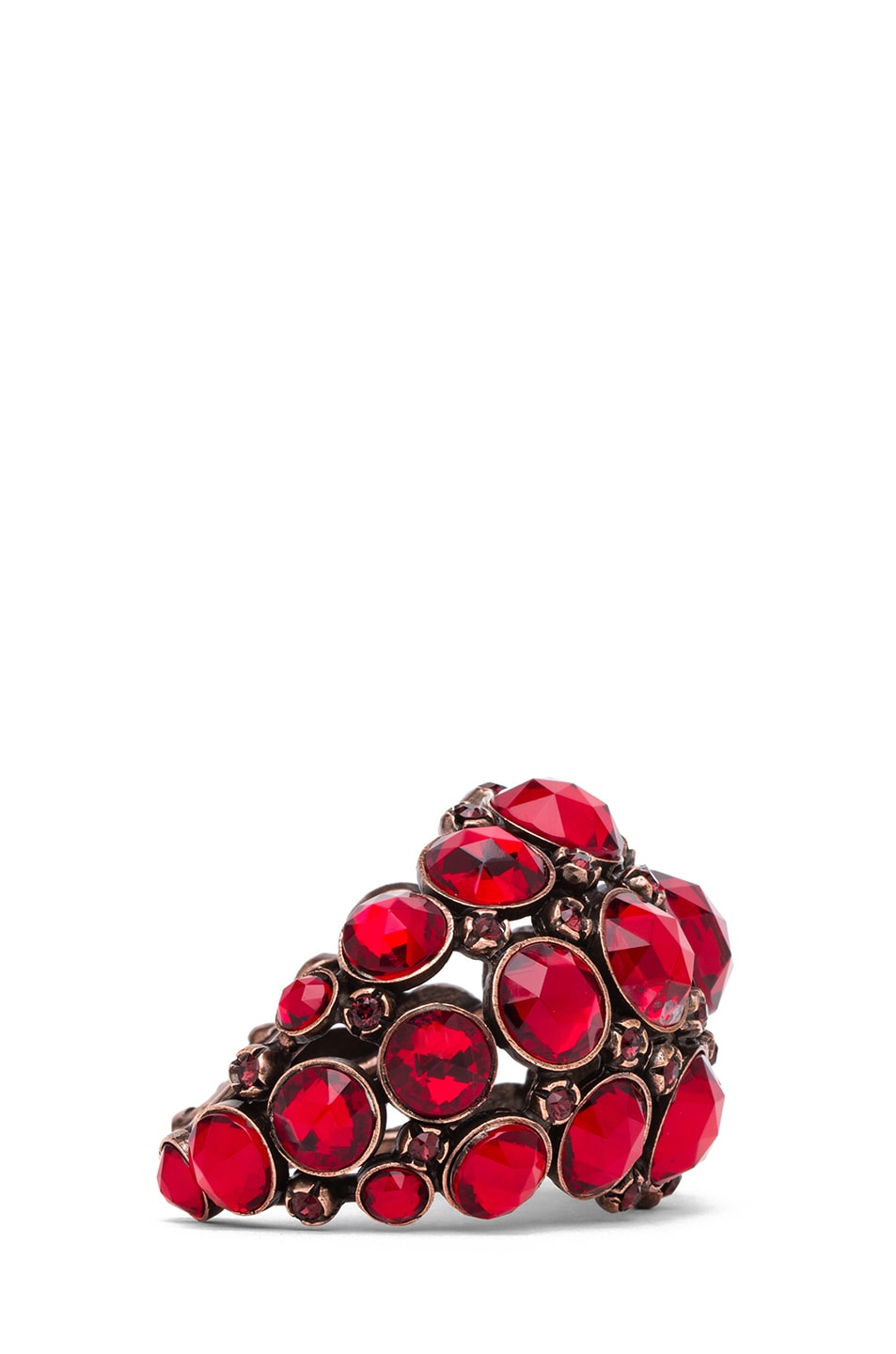 Image 2 of Lanvin Jeweled Bracelet in Rouge