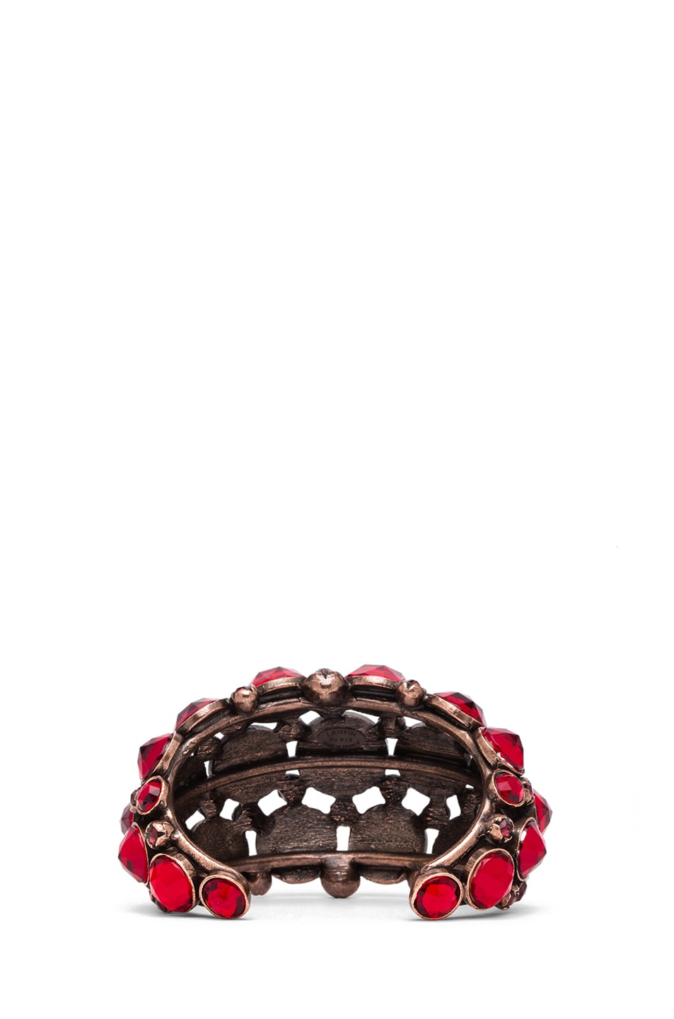 Image 3 of Lanvin Jeweled Bracelet in Rouge