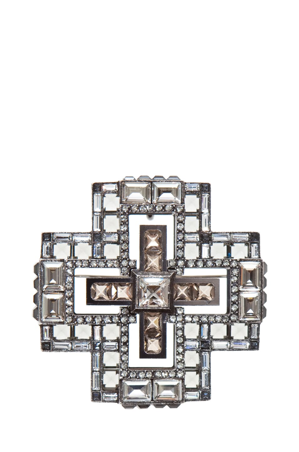 Image 2 of Lanvin Cross Necklace in Silver