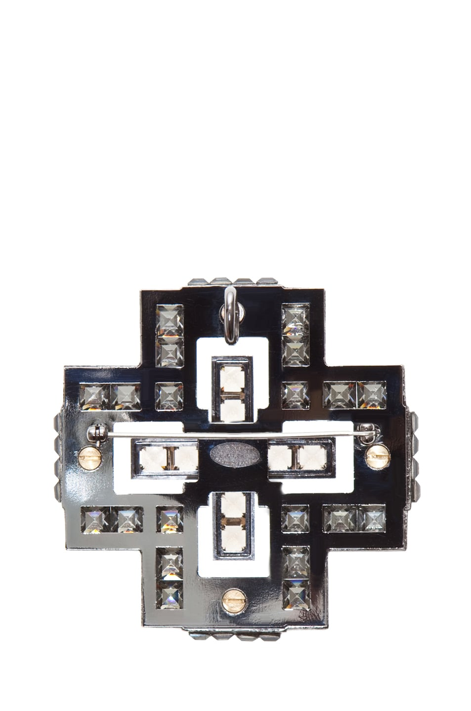Image 3 of Lanvin Cross Necklace in Silver