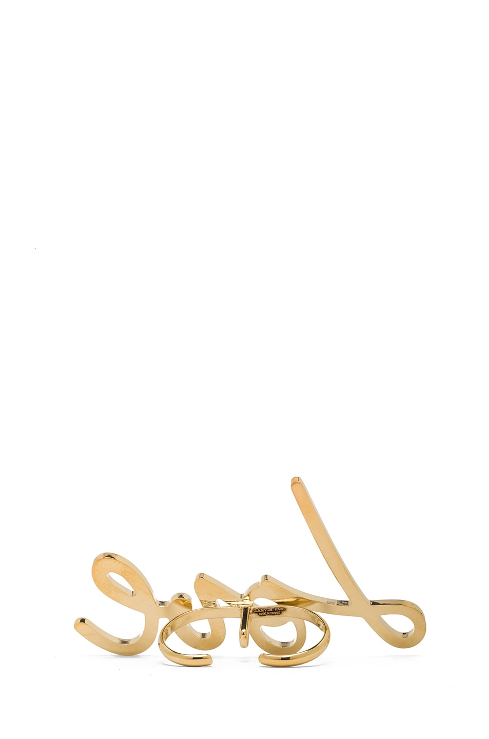 Image 3 of Lanvin Love Ring in Gold
