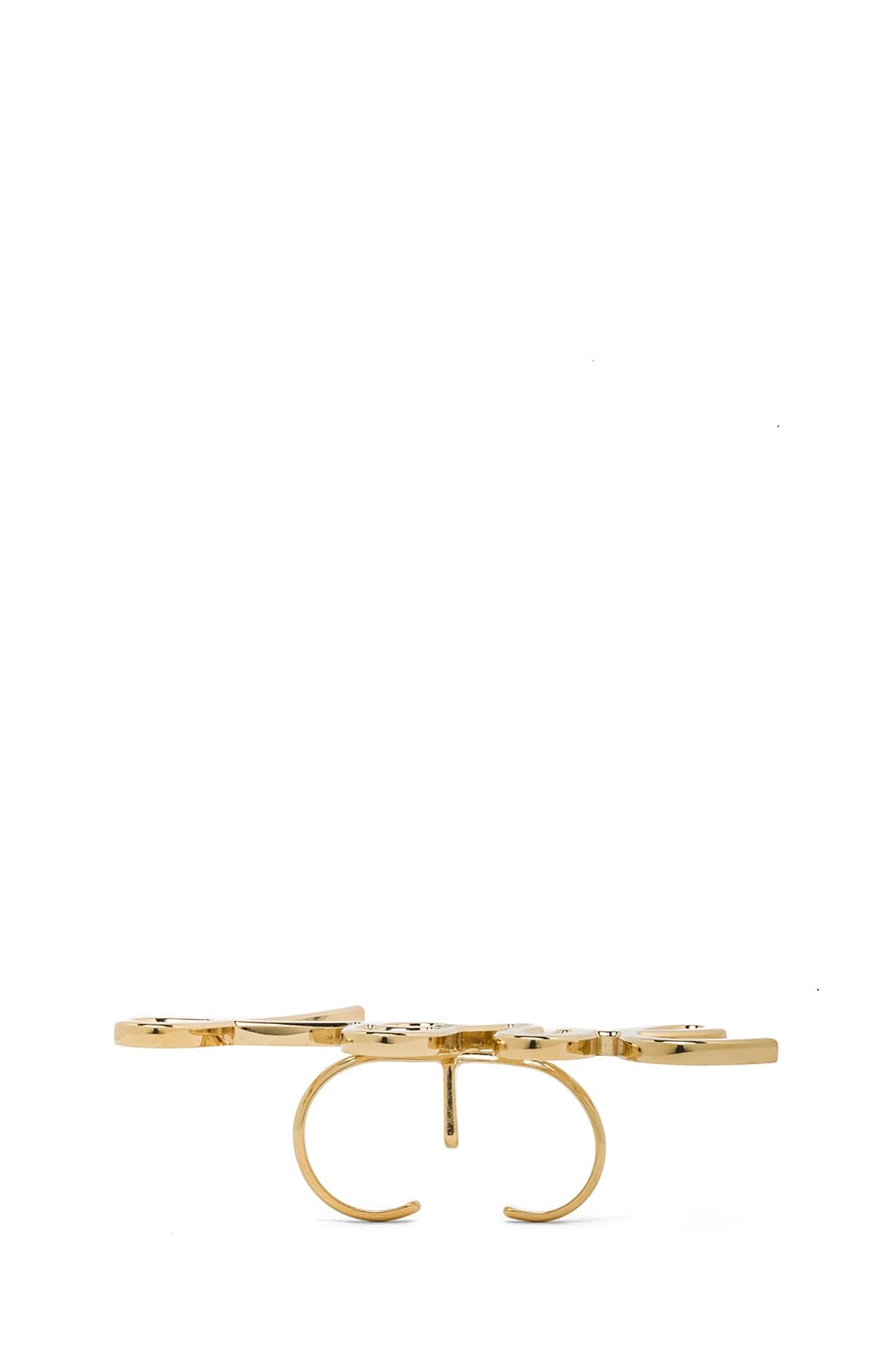 Image 4 of Lanvin Love Ring in Gold