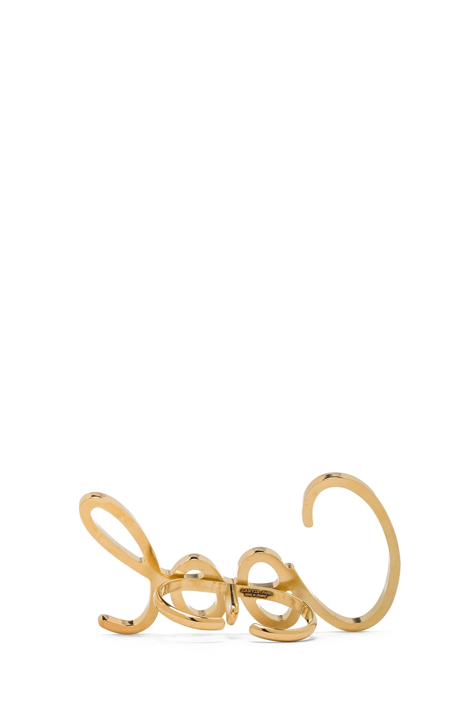 Image 3 of Lanvin Cool Ring in Gold