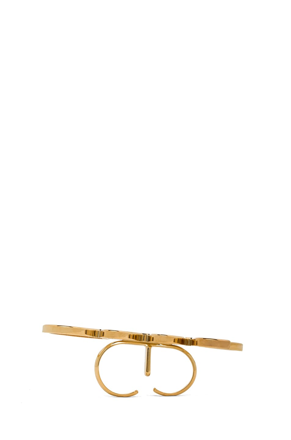 Image 4 of Lanvin Cool Ring in Gold