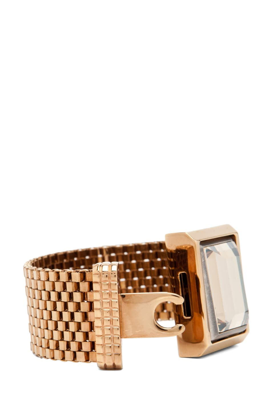 Image 4 of Lanvin Strass Bracelet in Gold