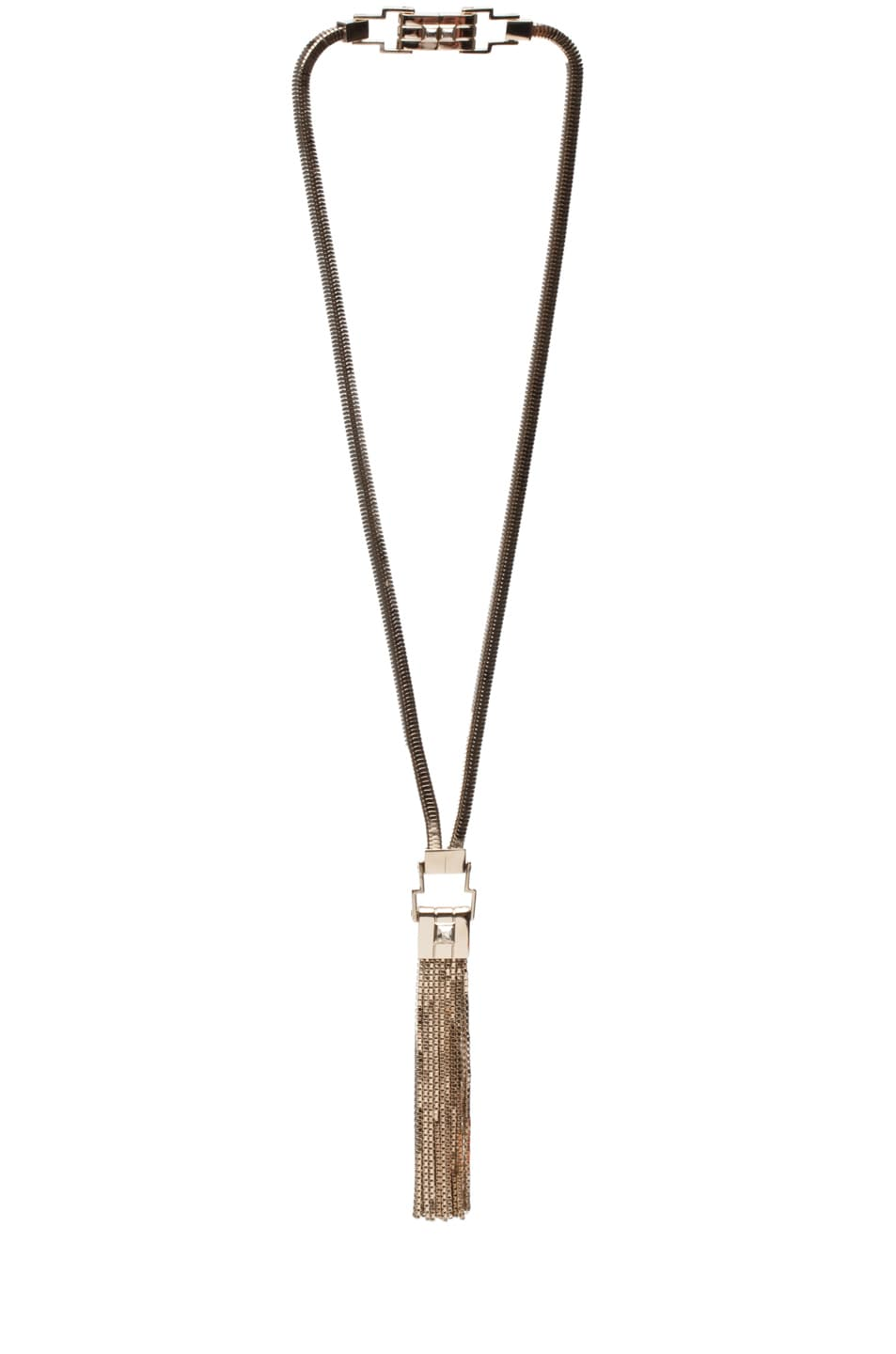 Image 1 of Lanvin Fringe Necklace in Gold
