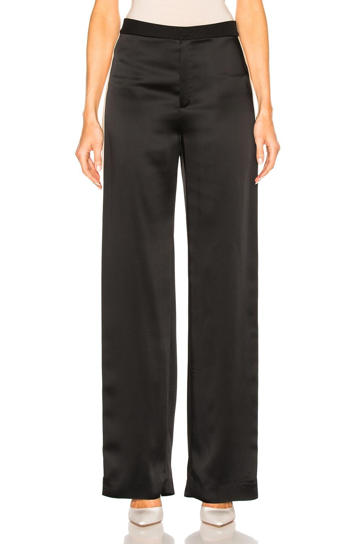 Image 2 of Lanvin Track Stripe Trousers in Black