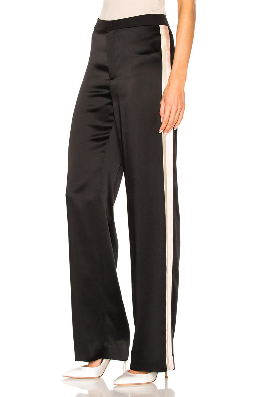 Image 3 of Lanvin Track Stripe Trousers in Black