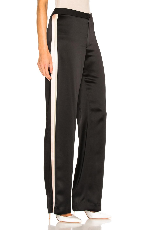 Image 4 of Lanvin Track Stripe Trousers in Black