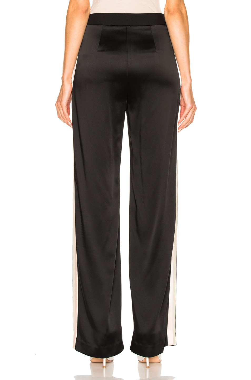 Image 5 of Lanvin Track Stripe Trousers in Black