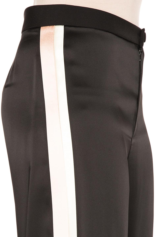 Image 7 of Lanvin Track Stripe Trousers in Black