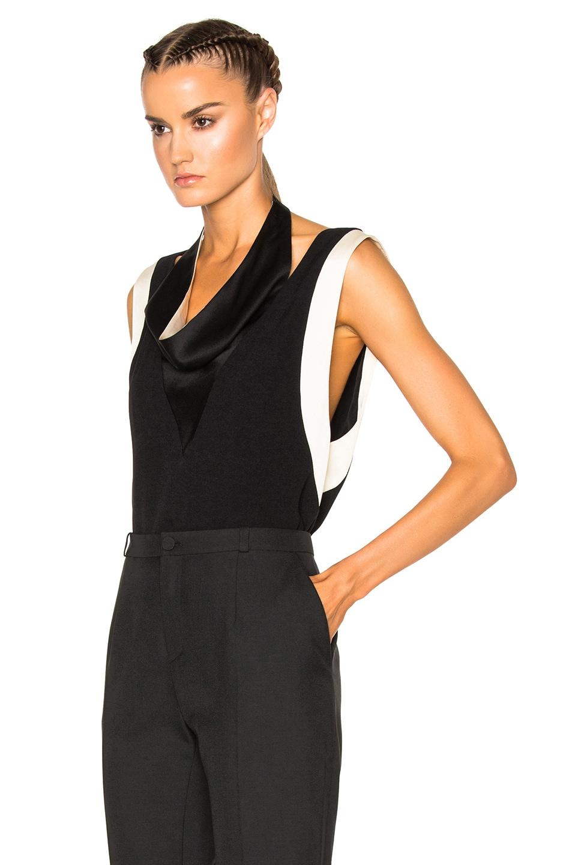 Image 2 of Lanvin Drape Top in Black